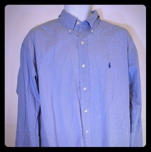 Ralph Lauren Men 	Button Down Shirt Size L